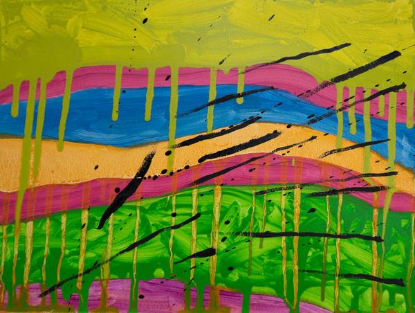 0204012021.Color Drips.9x12 Art | Glenn McDaniel Arts, LLC