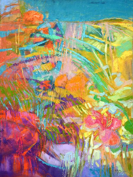 Blooming Heart Original Oil Painting Art | Dorothy Fagan Joy's Garden