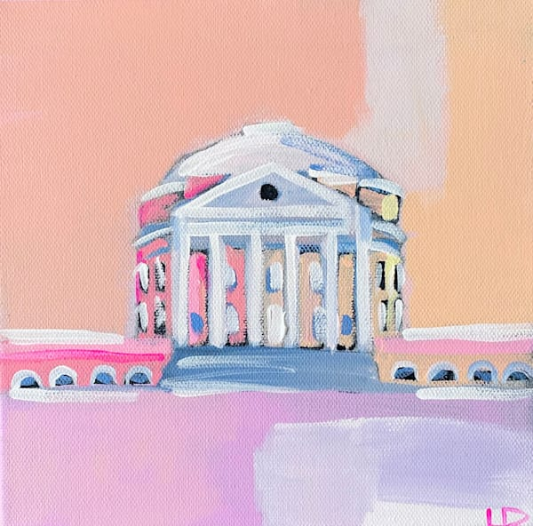 2021 Rotunda Peach  8 X 8  | Lesli DeVito