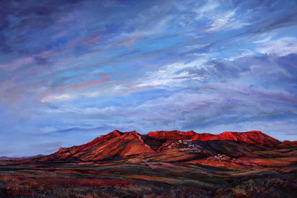 Lindy Cook Severns Art | Riding the Red Dawn, print