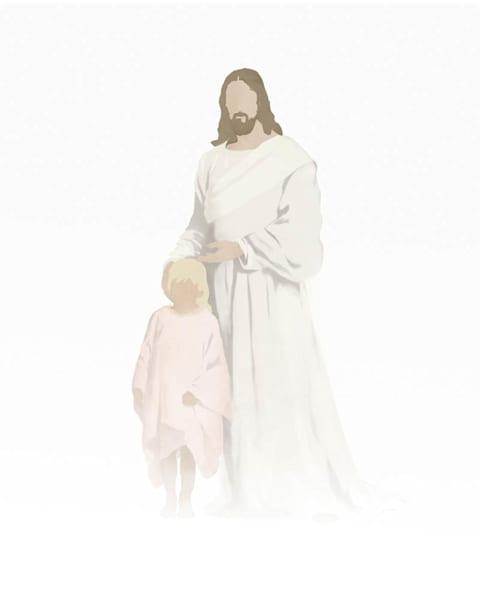 Christ with Girl - Light Skin Light Blonde Hair