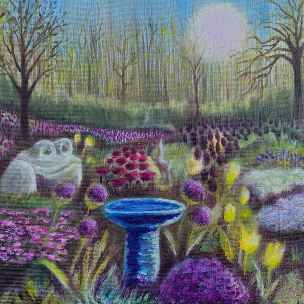 My Whimsical Tulip Garden is now available as a print!