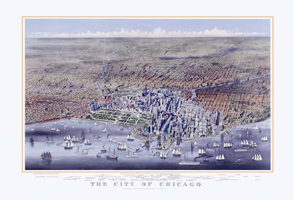 City Of Chicago 1874 Art   Mark Hersch Photography