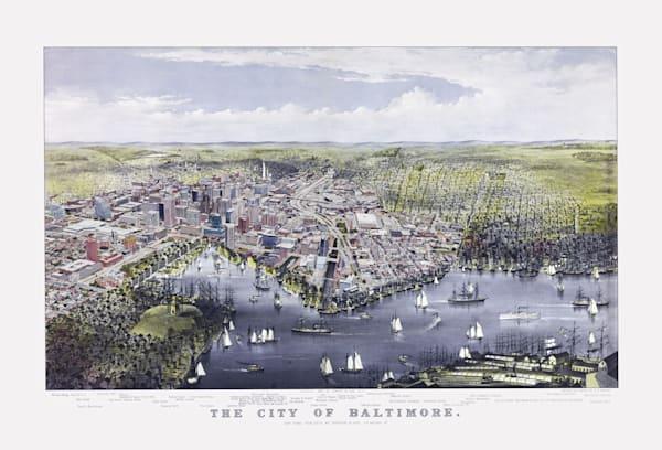 The City Of Baltimore 1880 Art   Mark Hersch Photography