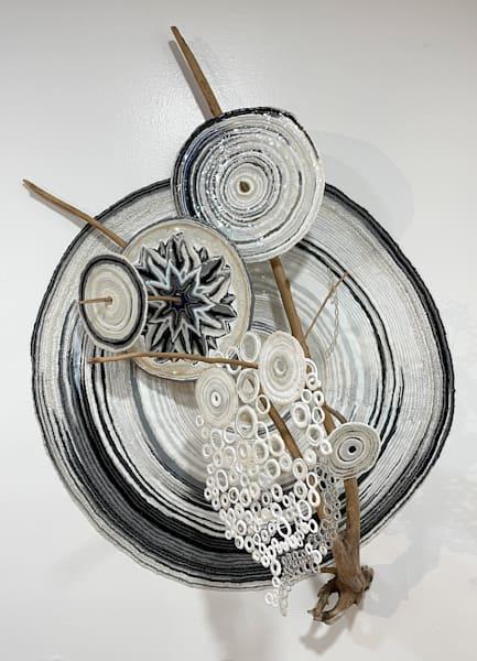 Circles With Branch   2016 Art | Artist Rachel Goldsmith, LLC