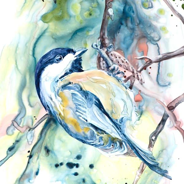Chickadee Coaster | Karen Bishop Artist