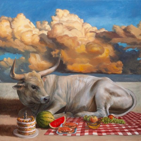 Picnic Bull Art | Kym Day Studio