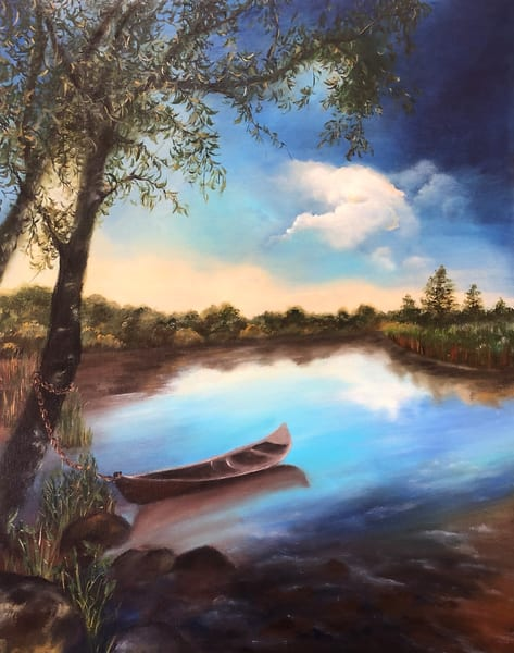 Tranquility by Suparna Sain, an Artist from India