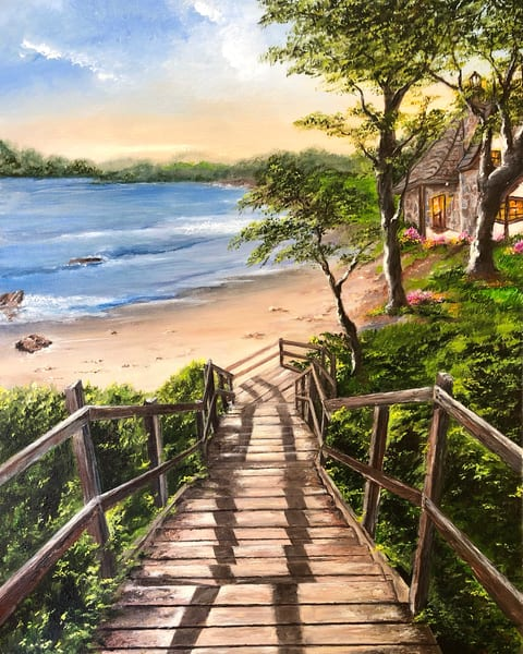 Stairway to the House at the Edge of Heaven by Suparna Sain, an Artist from India