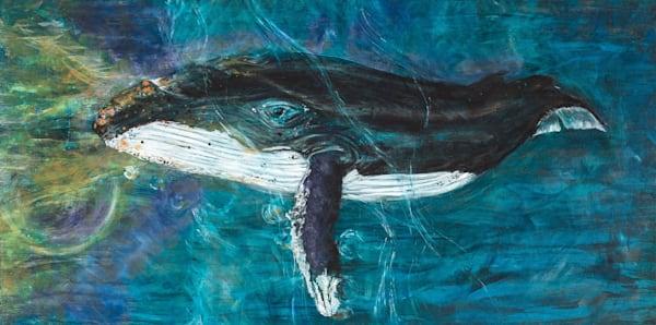 Gray Whale In Deep Waters Art   lisaabbott