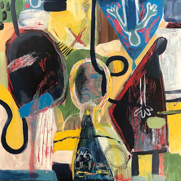 Abstract  Figurative Painting by Marsha Carrington