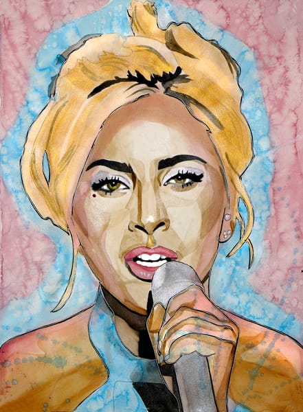 Lady Gaga Art | William K. Stidham - heART Art