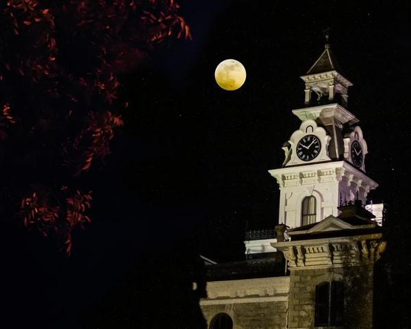 Fall Full Moon Art | Jim Livingston Art