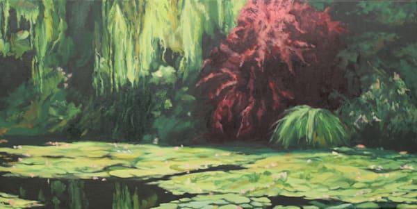 Red Tree In Monet S Garden Art | Helen Vaughn Fine Art