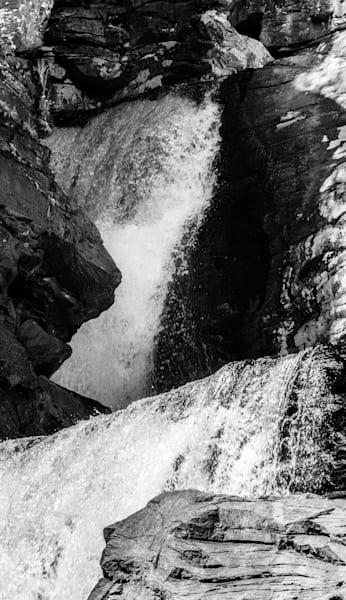 Intimate B&W Print of Linville Falls