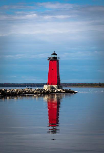 Manistique Lighthouse Photography Art | Ursula Hoppe Photography