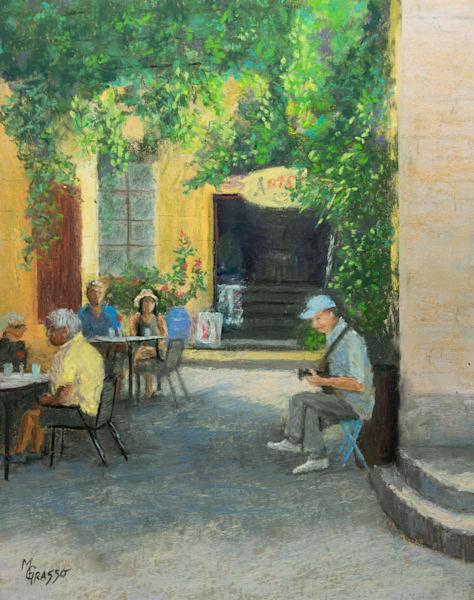 Lunchtime Serenade   Original Art   Mark Grasso Fine Art