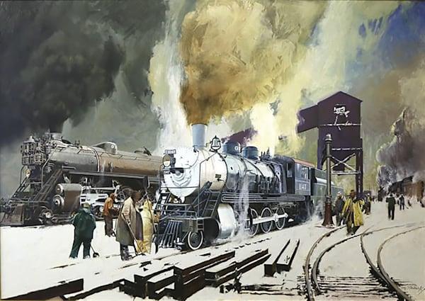 Locomotives In Winter.Stavrowsky Art | Lesa Delisi, Fine Arts