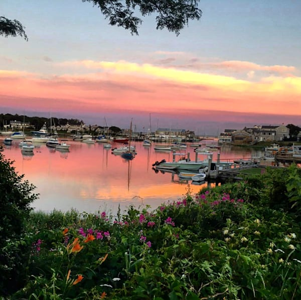 Sunset At Wychmere Harbor   Harwich Port, Ma Photography Art | The Colors of Chatham