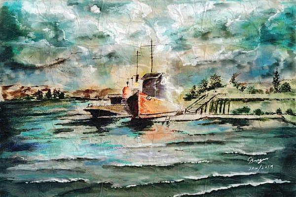 Sailboats At The Docks
