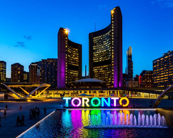 Toronto City Hall Nightscape Photography Art | Rick Vyrostko Photography