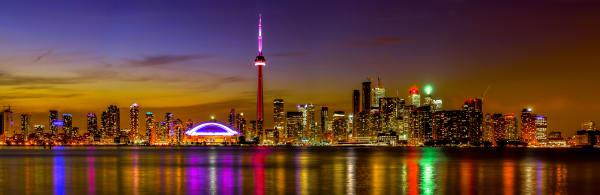 Toronto City   Night Of Color Photography Art | Rick Vyrostko Photography