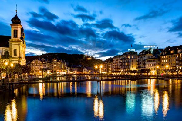 Sunset In Lucerne Photography Art | Rick Vyrostko Photography