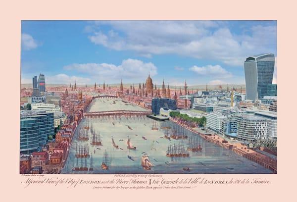 Panoramic View Of London 1751 Art   Mark Hersch Photography