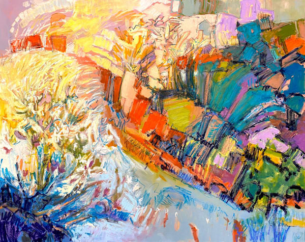 Bright Abstract Landscape Painting
