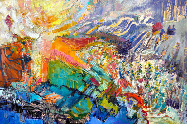 And The Colors Shone Up From Within My Heart Art | Dorothy Fagan Joy's Garden