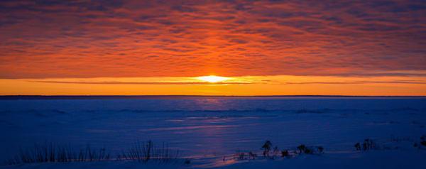 Sunrise Over The Straights Of Mackinaw Photography Art | Ursula Hoppe Photography