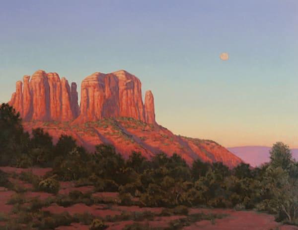 Full Moon Cathedral Rock  Art | Terry Sauve Fine Art