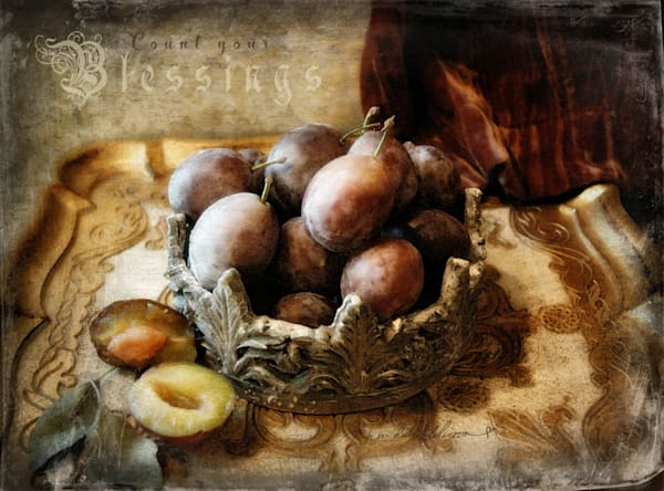 OLD WORLD PLUMS Count Your Blessings Art