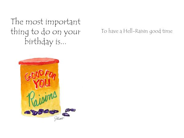 Raisin Birthday | KnottJust Art