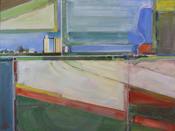 silo horizon farm kansas collage green blue