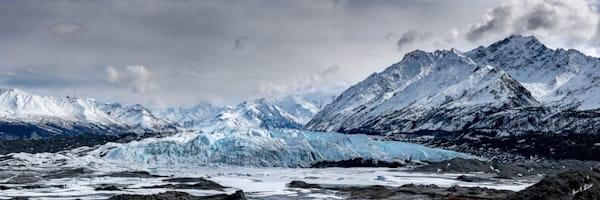 Glacier In The Storm Clouds Art   Alaska Wild Bear Photography
