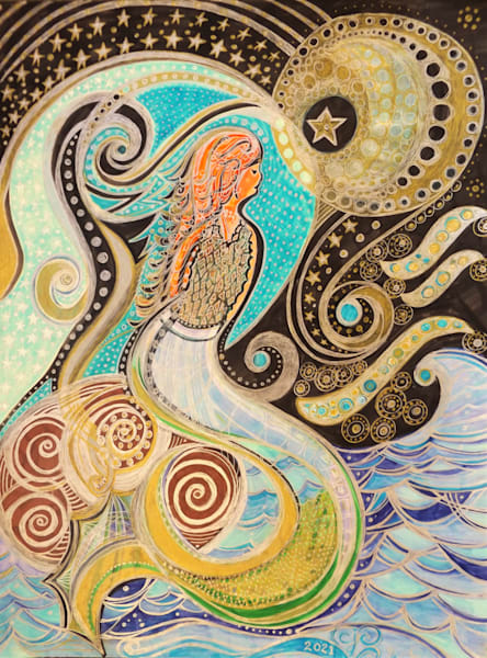 Mermaid's Mysteries Art | Cynthia Christensen Art