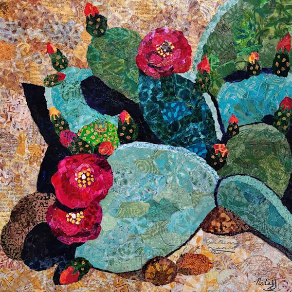 Desert Rose: Beavertail Cactus Art | Poppyfish Studio