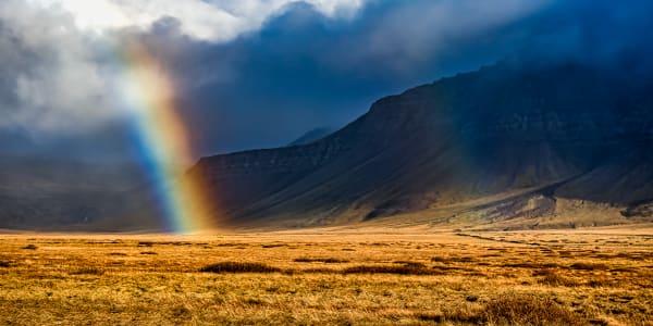 Icelandic Rainbow Photography Art   Rick Vyrostko Photography