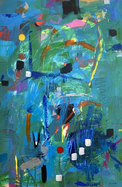 """""""Just Puzzled Too"""" Original 24"""" X 36"""" Art   Garry Scott Wheeler Artwork LLC"""