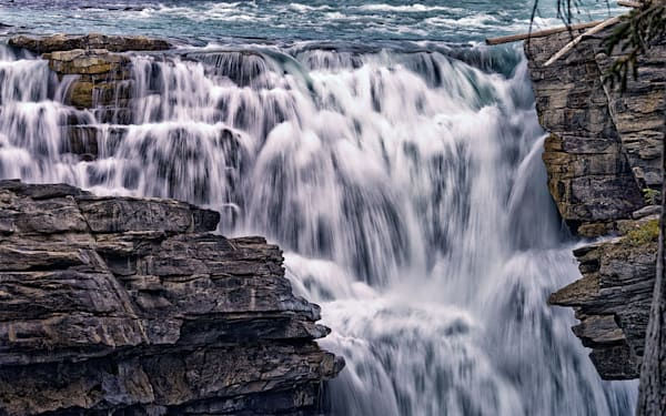"""""""Athabasca Falls II"""" fine art photograph by Fred Neveu."""