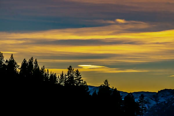 Sunset Over The Mountain Photography Art | Ron Olcott Photography