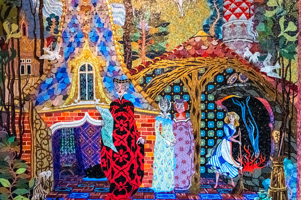 Cinderella Castle Tile Mosaic Mural 1 - Disney World Wall Art   William Drew