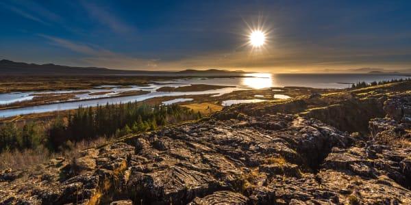 Icelandic Sunset Photography Art   Rick Vyrostko Photography