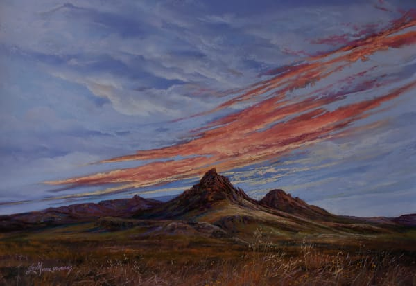 Lindy C Severns | Fall Colors Mitre Peak at Dawn, print