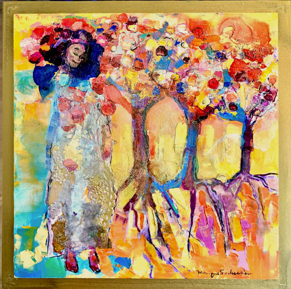 Prophetic Art Praise Worship Heaven Rooted In Love Mixed Media Oil Painting Art | Monique Sarkessian Fine Art Gallery and Studio