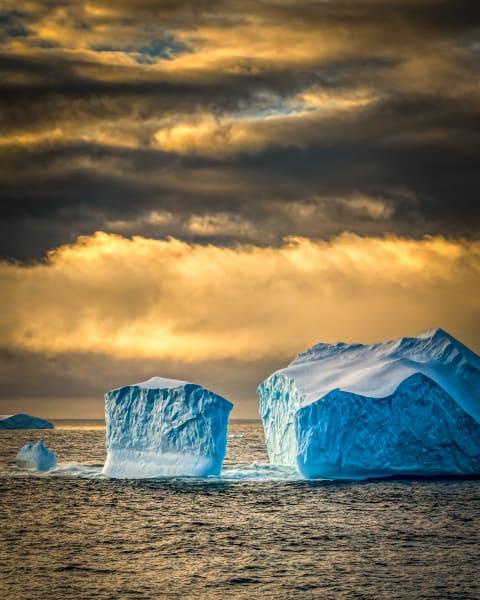 Blue Ice At Sunset Photography Art | Rick Vyrostko Photography