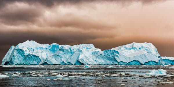 Long Blue Antarctic Ice Photography Art | Rick Vyrostko Photography
