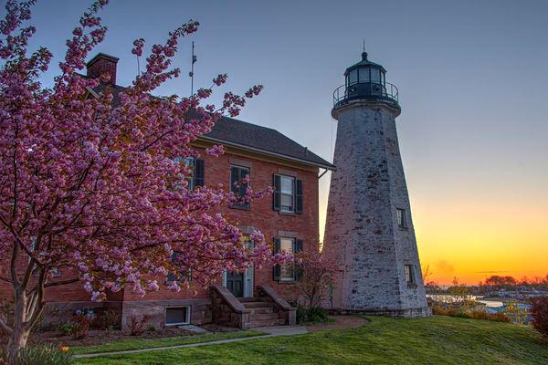 Charlotte Lighthouse At Sunrise Photography Art   RAndrews Photos