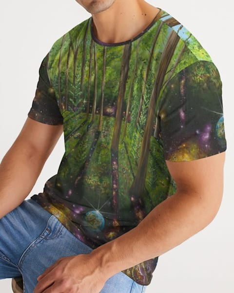 Cosmic Forest Men's Tee | Boundless Creations